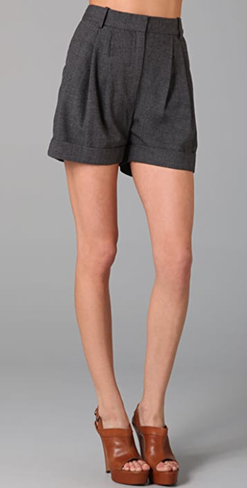 By Malene Birger Asflori Pleated Shorts