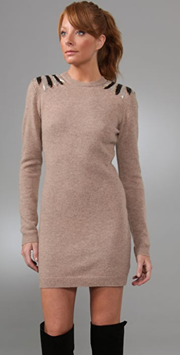 By Malene Birger Thiamo Embellished Shoulder Dress