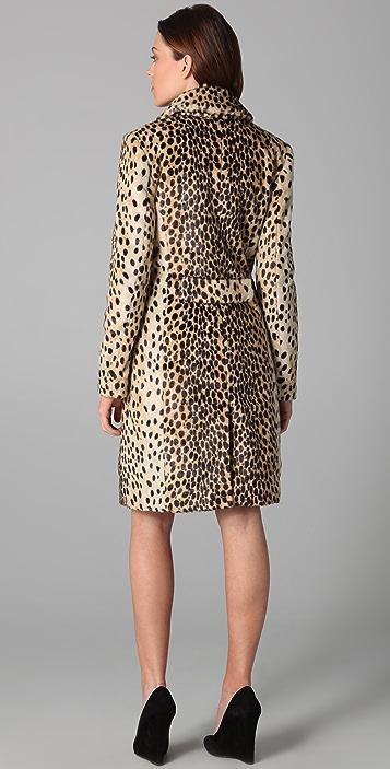 By Malene Birger Rufe Faux Leopard Coat