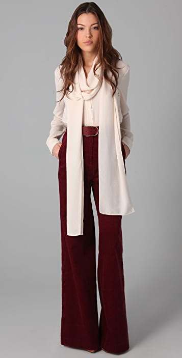 By Malene Birger High Waisted Corduroy Pants