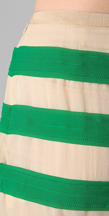 By Malene Birger Miralli Striped Skirt