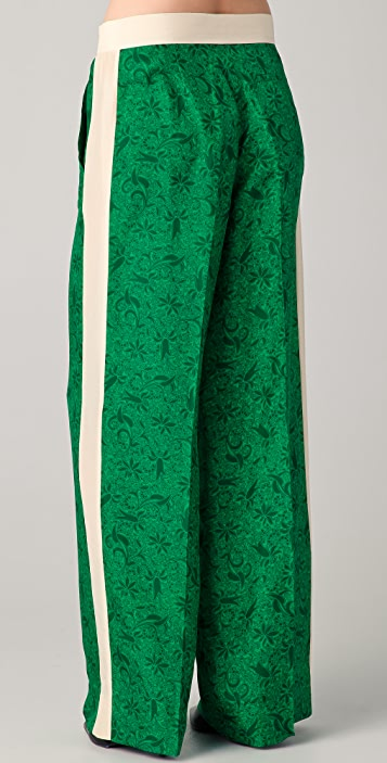 By Malene Birger Hazia Print Tuxedo Pants