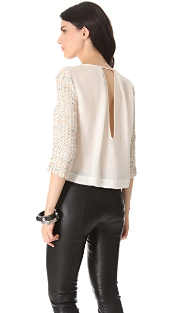 By Malene Birger Lineas Tweed Top