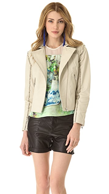 By Malene Birger Naroa Studded Leather Jacket