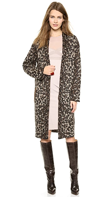 By Malene Birger Cameliu Long Leopard Cardigan | SHOPBOP
