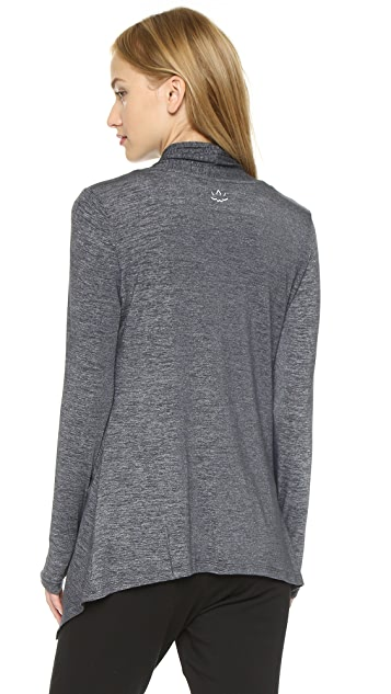 Beyond Yoga Cloud Heather Drape Front Cardigan
