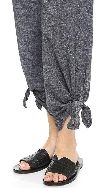 Beyond Yoga Cloud Heather Ankle Tie Pants