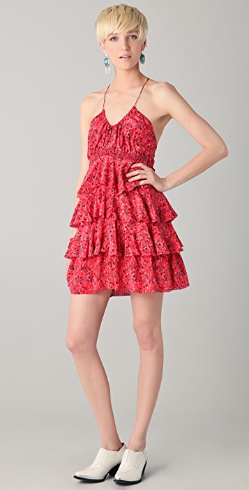 By Zoe Marika Print Ruffle Dress
