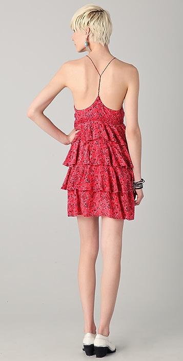 By Zoe Marika Print Ruffle Dress