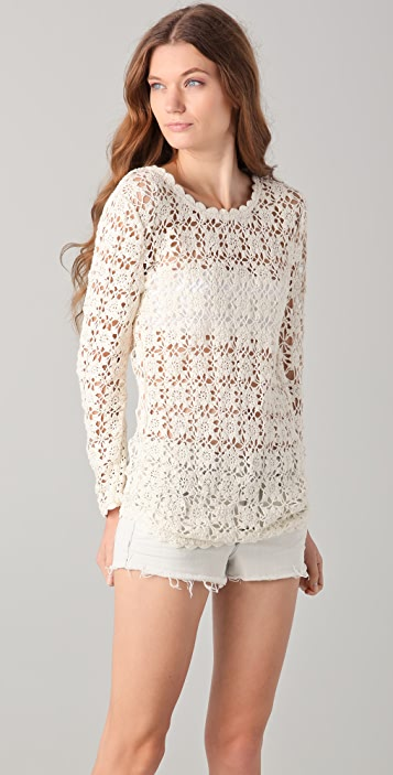 By Zoe Alger Crochet Top