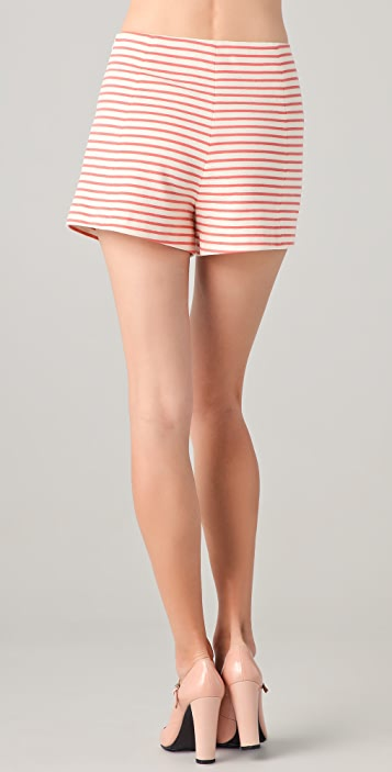 Cacharel Coral Striped Shorts