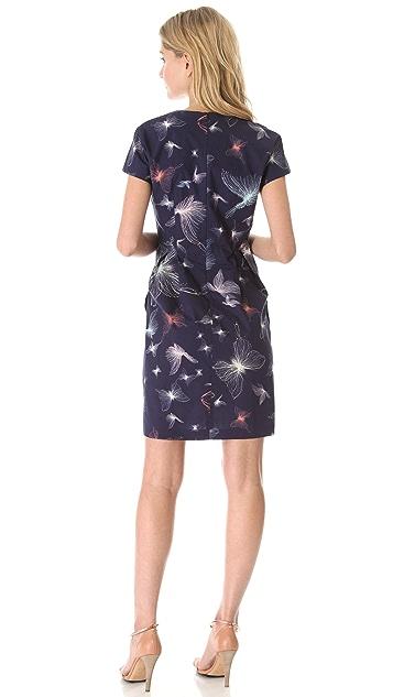 Cacharel Short Sleeve V Neck Dress
