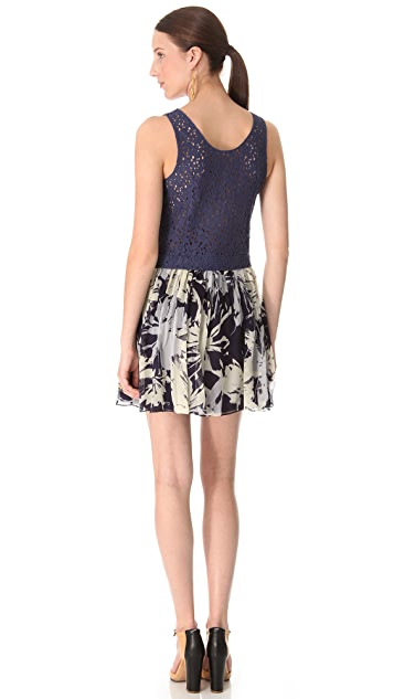 Cacharel Lace & Silk Dress