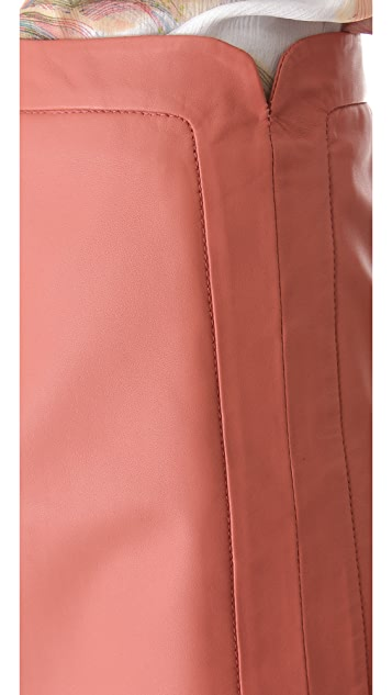 Cacharel Leather Skirt
