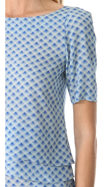 Cacharel Short Sleeve Printed Blouse