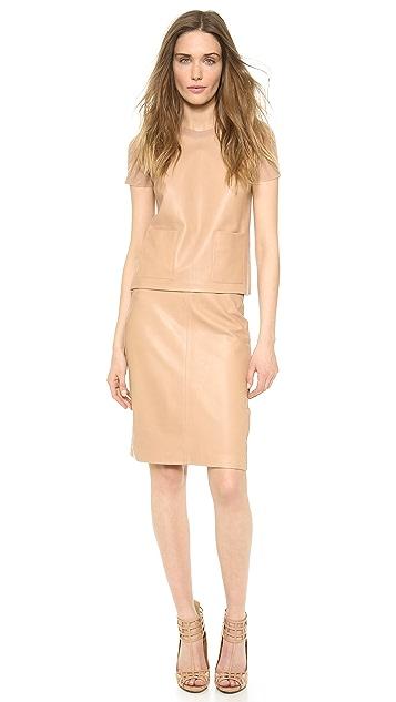 Calvin Klein Collection Michelle Short Sleeve Top
