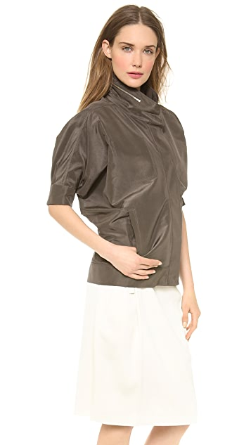 Calvin Klein Collection Ulama Silk Taffeta Jacket