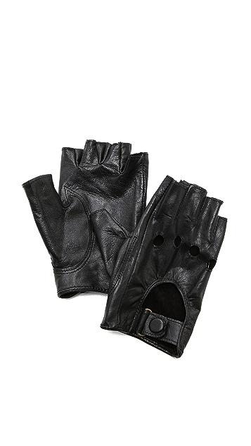 Carolina Amato Байкерские перчатки без пальцев