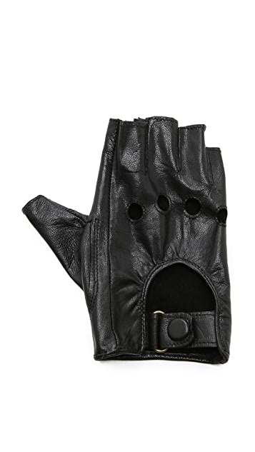 Carolina Amato Fingerless Moto Gloves
