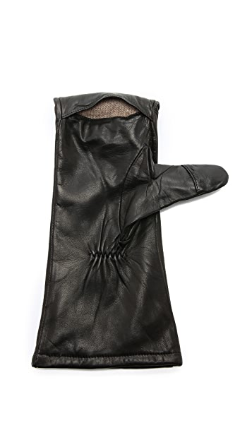 Carolina Amato Leather Mittens