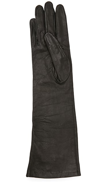 Carolina Amato Long Leather Gloves
