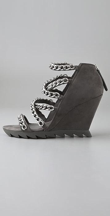 Camilla Skovgaard Chain Cross Strap Saw Sandals