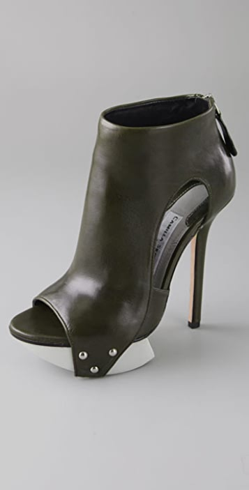 Camilla Skovgaard Cutout Platform Booties on Lug Sole