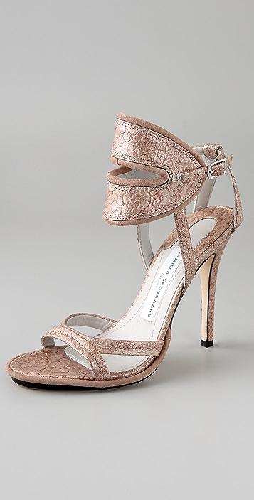 Camilla Skovgaard Metallic Slit Collar Stiletto Sandals