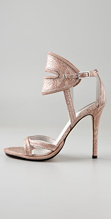 Camilla Skovgaard Metallic Slit Collar Stiletto Sandals