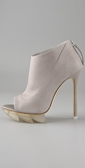 Camilla Skovgaard Open Toe Saw Tooth Booties
