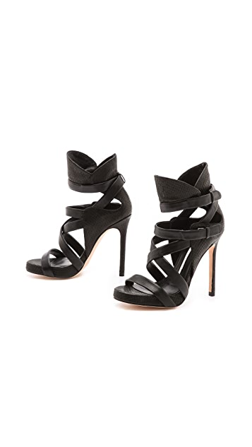 Camilla Skovgaard Collar Cross Stiletto Sandals