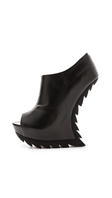 Camilla Skovgaard Heelless Wedge Booties with Saw Sole