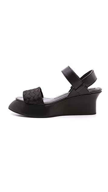 Camilla Skovgaard Low Woven Sweeper Wedge Sandals