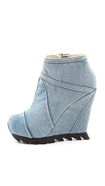 Camilla Skovgaard Seams Denim Wedge Booties