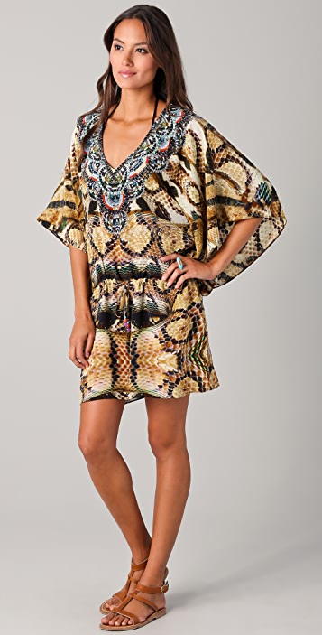 Camilla Sphinx Drawstring Cover Up