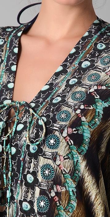 Camilla Sphinx Short Lace Up Caftan