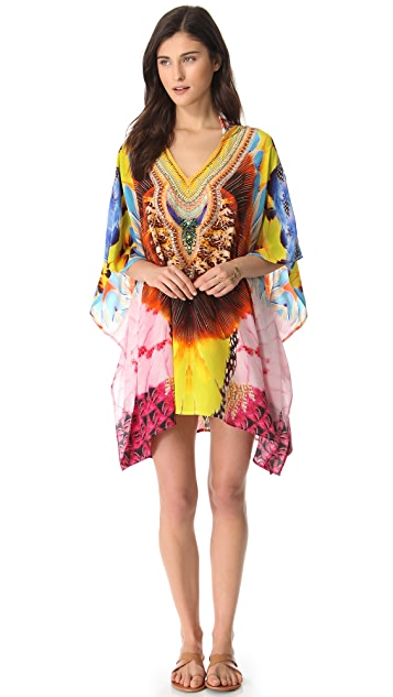 Camilla Short Hooded Caftan Cover Up