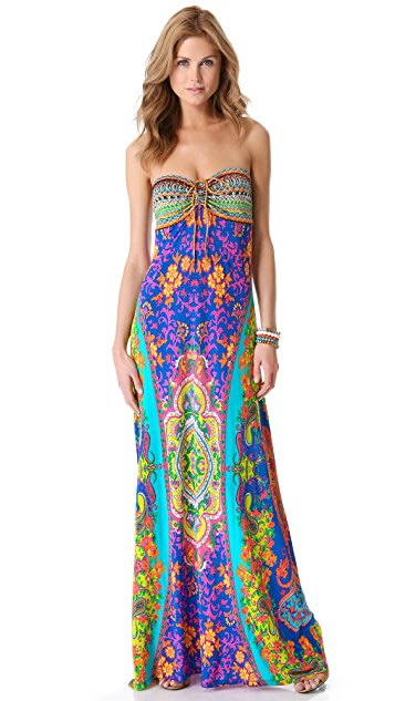 Camilla Drawstring Cover Up Maxi Dress