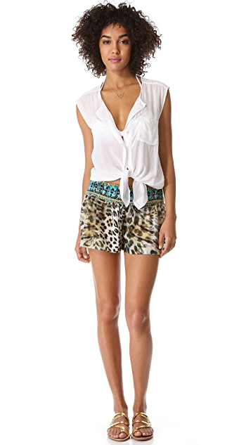 Camilla Beach House Stretch Band Shorts