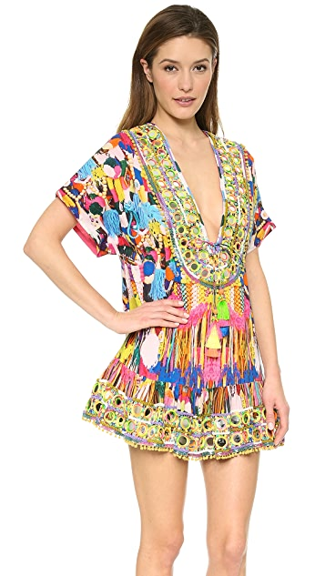 Camilla Embroidery Dress With Drawstring