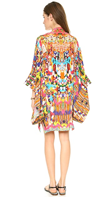 Camilla Oversized Sleeve Short Caftan