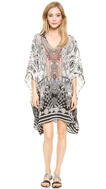 Camilla Short Hooded Caftan
