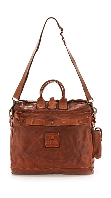 Campomaggi Washed Leather Messenger Bag