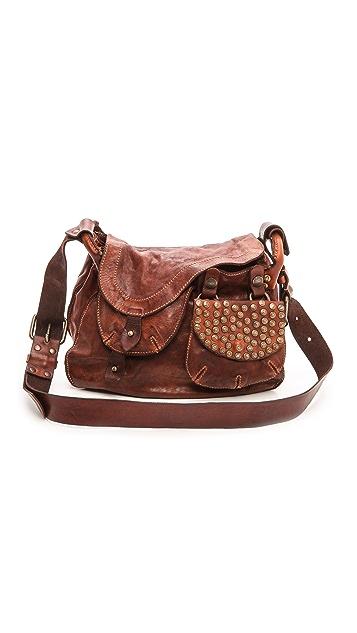 Campomaggi Washed Leather Shoulder Bag