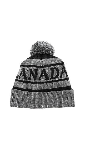 bdd3b0183aa Canada Goose Logo Pom Hat