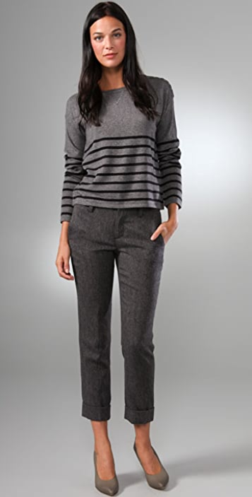 C&C California Striped Cropped Sweater