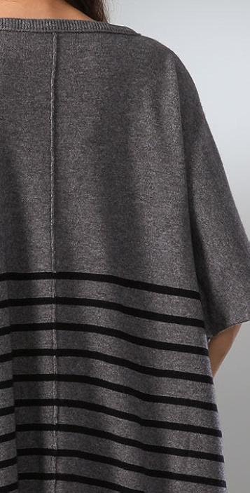 C&C California Striped Poncho Sweater