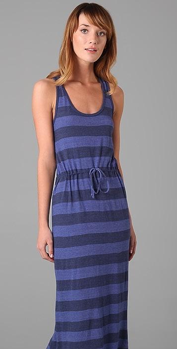 C&C California Bold Stripe Maxi Tank Dress
