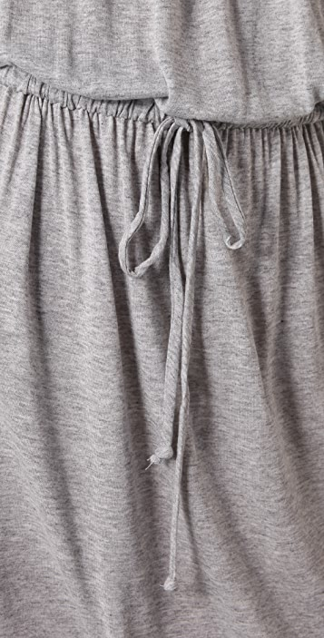 C&C California Shirred Tie Dress