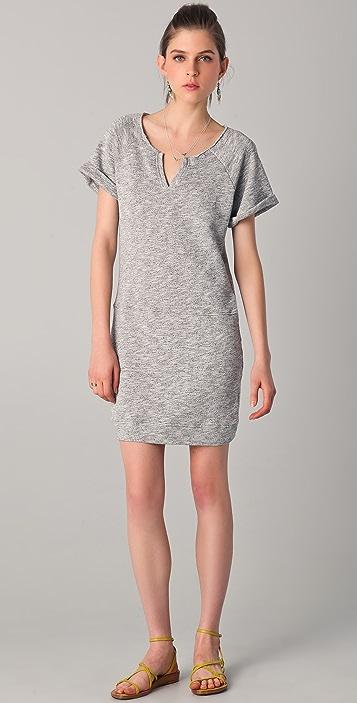 a39b2010224 C C California Short Sleeve Terry Sweatshirt Dress